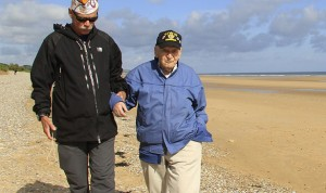 D-Day veteran on Omaha Beach