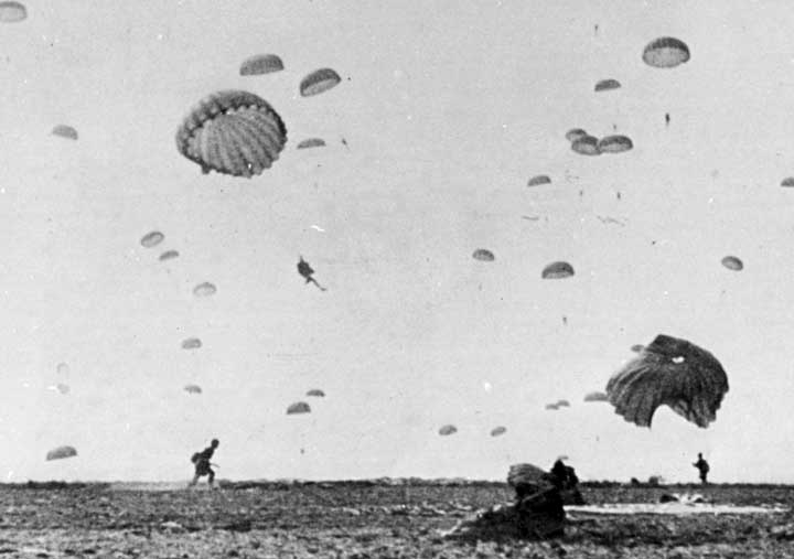 Easy Company paratroopers on D-Day
