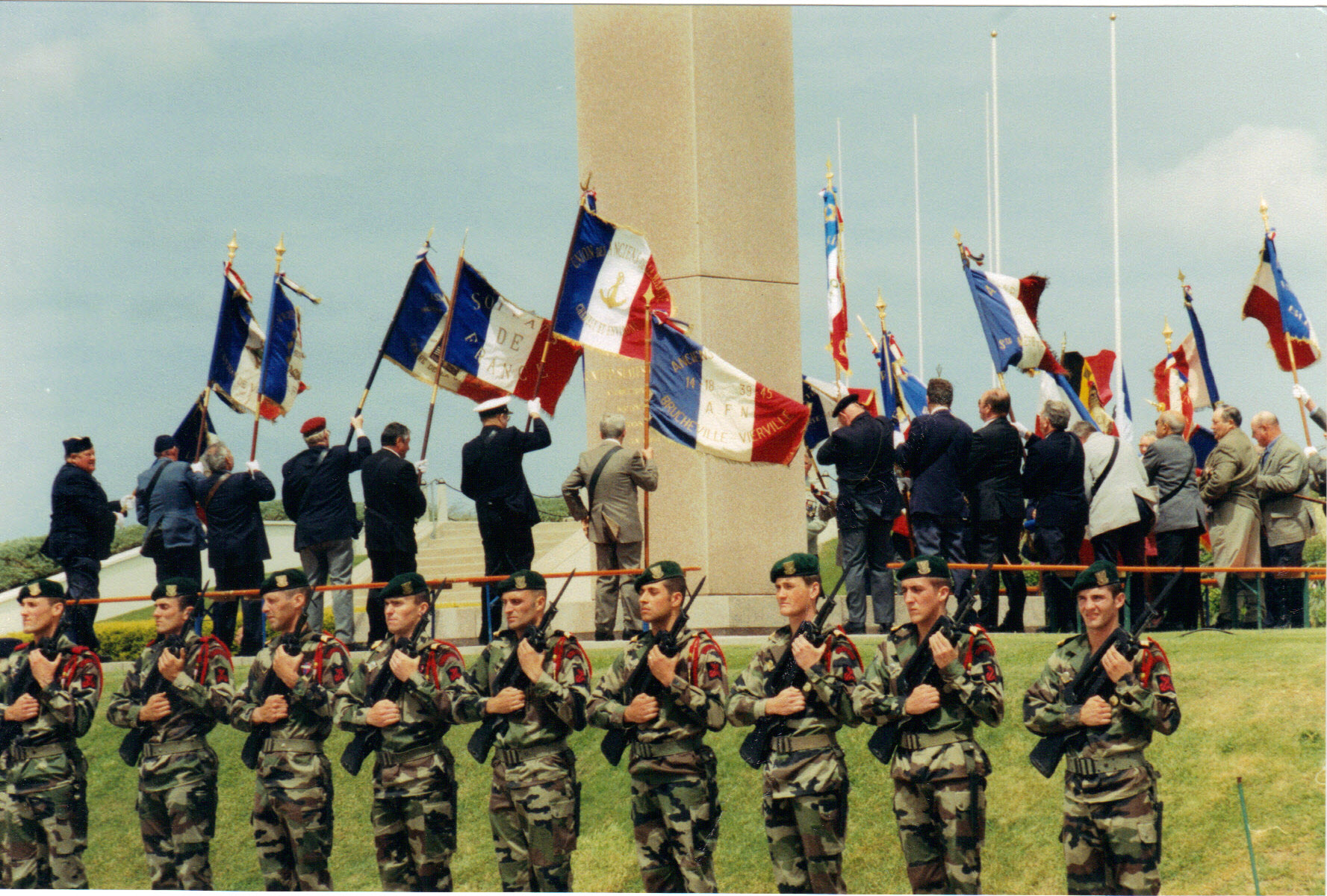 Band of Brothers ceremony honor guard