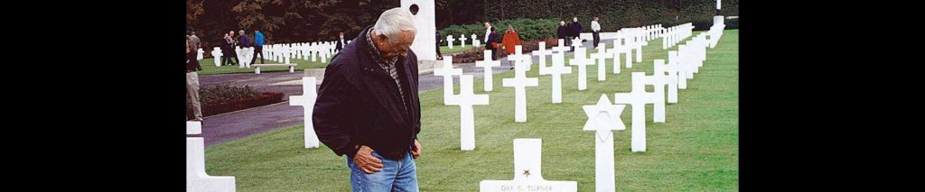 Band of Brothers veteran at American cemetery in Normandy
